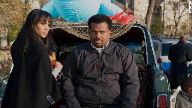 "The 2013 film ""Peeples"" stars Kerry Washington and Craig Robinson as a couple seeking her family's approval of their engagement."