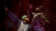"""Are y'all alive?"" Andre 3000 probed the first-day Coachella goers as he took the stage with Big Boi in the first of their reunion shows."