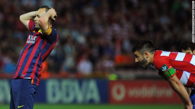 It was that kind of day for Andres Iniesta, left, and Barcelona at Granada.