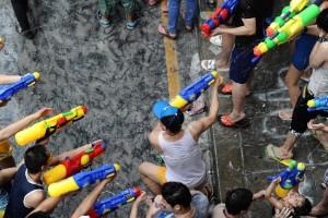 Una divertida guerra de agua