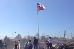 Las consecuencias del incendio en Valparaíso