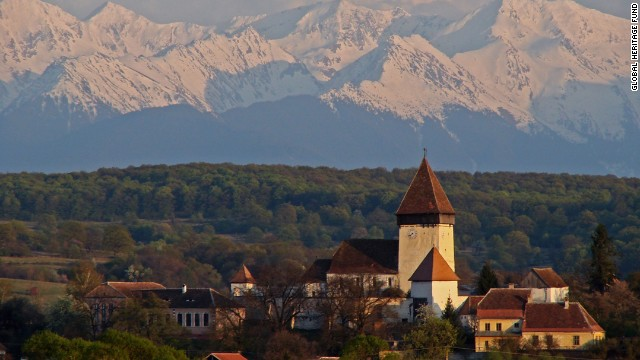Authentic medieval architecture dating back to the 13th century can be found in Romania's <a href='http://globalheritagefund.org/what_we_do/overview/current_projects/carpathian_villages_romania' target='_blank'>Carpathian Villages of Transylvania</a> in the Transylvanian Alps. The town of Hosman is shown here.