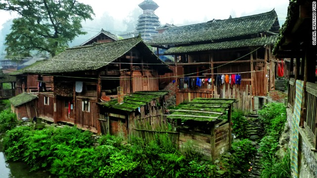The Global Heritage Fund's first annual list of endangered sites in the developing world features an eclectic collection of sites around the world. The amazing diversity of China's ethnic minority population is highlighted in the first site: The<a href='http://globalheritagefund.org/what_we_do/overview/current_projects/guizhou_china' target='_blank'> Minority Villages of Guizhou, China</a>. The population of Guizhou is about one-third ethnic minorities, including the Dong and Miao peoples, and many still stick to the old ways of building their wooden stilt homes.