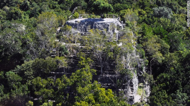 Maya Biosphere Reserve in northern Guatemala, recognized by UNESCO as a biosphere reserve, is home to the largest and earliest pre-classic Maya archaeological sites in Mesoamerica. That includes <a href='http://globalheritagefund.org/mirador_guatemala' target='_blank'>El Mirador</a>, where La Danta, one of the largest pyramids in the world, is located. La Danta is shown here in an aerial view.