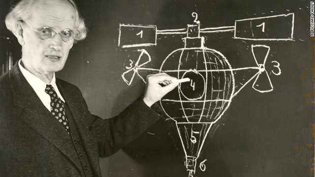 His grandfather, Auguste Piccard, was a professor of physics who helped pave the way for high-altitude navigation by inventing the pressurized cabin and becoming the first person to reach the stratosphere in a balloon.
