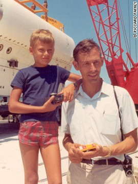 Piccard's father, Jacques, was the first man to dive to the bottom of the Marianas Trench -- 10,916 meters -- the deepest point of the world's oceans.