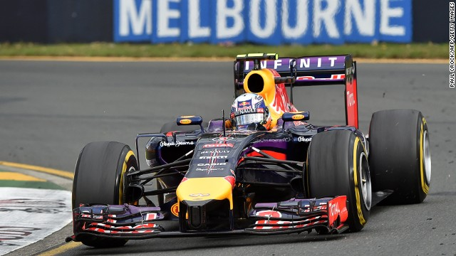 Red Bull's Daniel Ricciardo in action during the opening F1 race of the season in Melbourne in March.