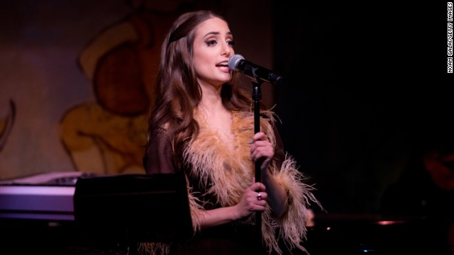 Alexa Ray Joel, seen April 4 at the Cafe Carlyle, collapsed on the closing night of her two-week run at the venue.