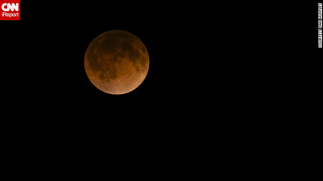 "CNN iReporter Dan Huntley mostly does landscape and travel photography, but he turned his camera to the sky for this shot of the ""blood moon"" over Dallas in April. Huntley has seen eclipses before but not a blood moon. He described it as being ""quite amazing."""