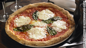 The price on Di Francesco\'s margherita pizza (pictured) won\'t be going up anytime soon.