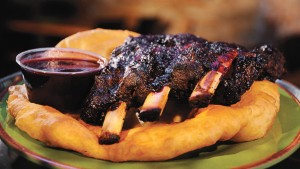 Bison ribs with blackberry barbecue sauce at Tocabe: An American Indian Eatery in Denver.