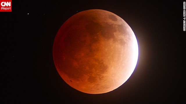 No stranger to astronomical photography, J. David Osorio photographed the different phases of the lunar eclipse. He started photographing at 10:45 p.m. Monday and stopped at 3 a.m. Tuesday. See more of his <a href='http://ireport.cnn.com/docs/DOC-1121013'>photos</a> of the moon's progression.