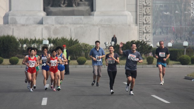 The race was open to foreign amateur runners for the first time this year.