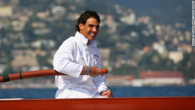 "Hailing from the island of Majorca, the 27-year-old is right at home on the sea. ""I live in front of the sea and the port is three minutes from my home,"" Nadal said. ""I spend a lot of time on the sea when I'm at home, especially in the summer."""
