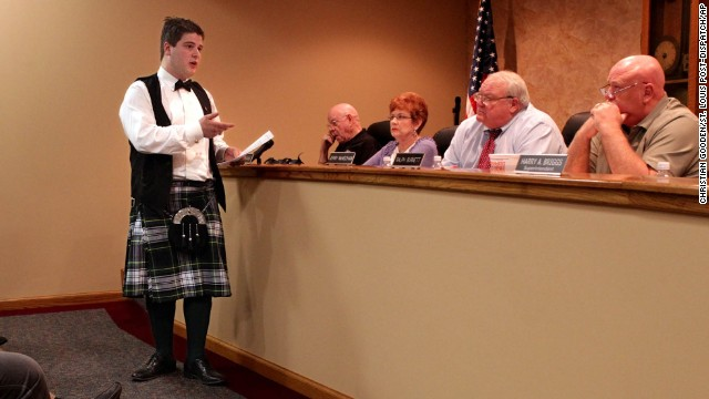 "<a href='http://www.stltoday.com/news/local/metro/granite-city-student-can-t-wear-kilt-to-prom/article_8fd1bab1-5fc2-5716-be62-15838936758e.html' target='_blank'>William Carruba</a> asked his school board on March 27, 2012, why he wasn't allowed to wear a kilt made of his family's Scottish-heritage tartan to the Granite City High School prom in Illinois, across the Mississippi River from St. Louis, Missouri. He was denied again: The kilt was called ""nontraditional"" by officials, who said it didn't fit into the district's dress code."