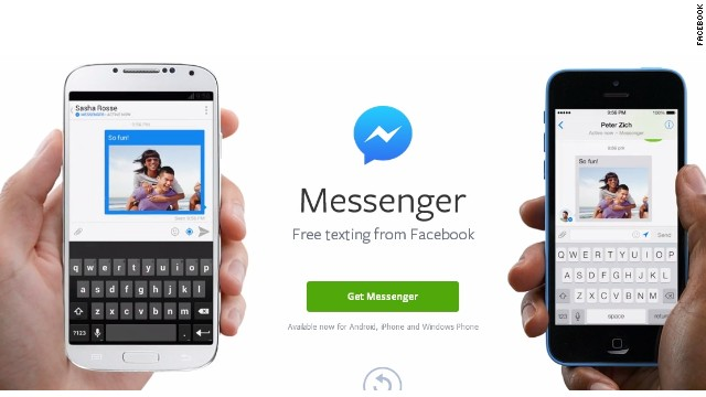 Mobile users who want to message friends will have to download the Messenger app in addition to the core Facebook app.