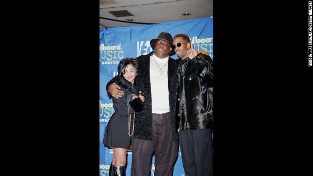 Hip-hop mogul Sean Combs, right, dropped out of Howard University for an internship at Uptown Records. He went on to become a vice president at the company and later left to start his own label, Bad Boy Entertainment, in 1993. He's seen here with Lil' Kim and the Notorious B.I.G. in 1995.