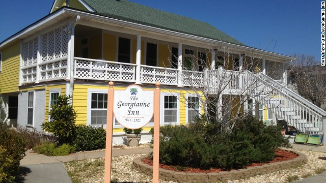 The Georgianne Inn, located on the barrier island of Tybee Island, Georgia, sits just three houses away from the beach.