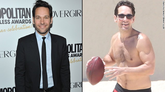 "With his new role as a superhero in Marvel's ""Ant-Man,"" it looks like Paul Rudd is bulking up. The actor was spotted on the beach in Mexico on Friday, April 11, with some very noticeable muscles, leaving onlookers curious if he's been hitting the gym for the gig. (Or perhaps those pecs were there all along.)"