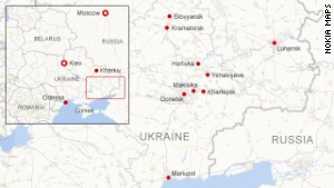 Where unrest has occurred in E. Ukraine