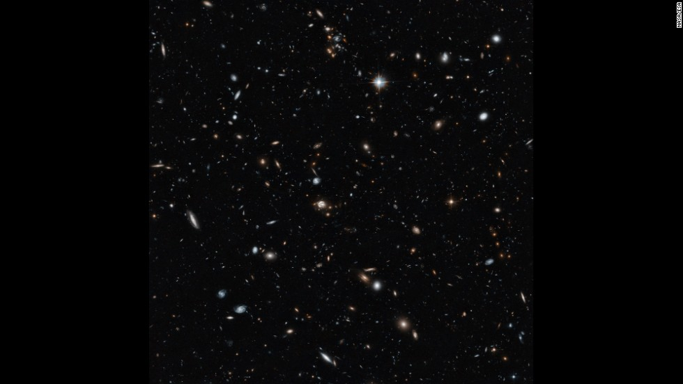 The bright dots in this image taken by the Hubble Space Telescope are not individual stars, but galaxies containing billions of stars and planets extending more than halfway to the edge of the observable universe. The image took 14 hours to capture and shows objects nearly a billion times fainter than what can be seen with the naked eye. Click through to see other wonders of the universe.