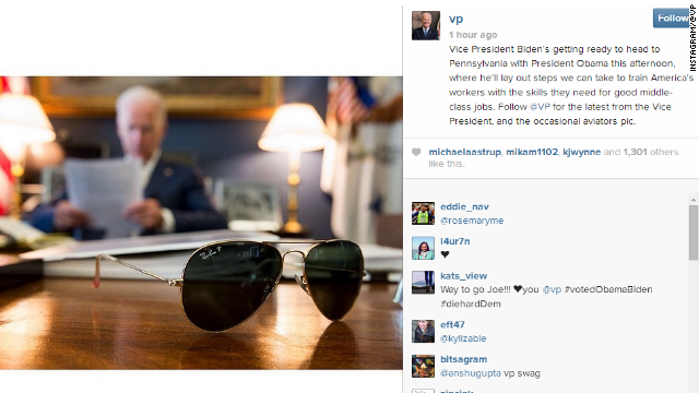 Ad for aviators or Joe Biden's Instagram account?
