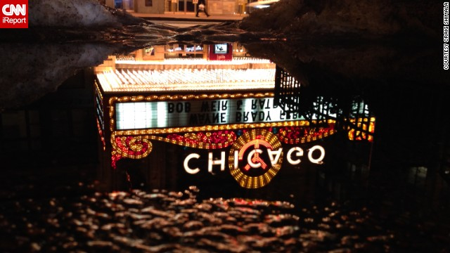 "When Craig Shimala thinks of Chicago, the first image that pops into his head is the famed Chicago Theater. When the <a href='http://ireport.cnn.com/docs/DOC-1121639'>marquee is lit</a> at night, ""it's like it's beaming with the city's energy,"" he said."