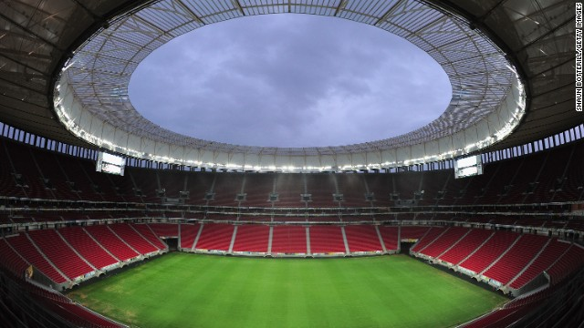 Spending on stadia like the Estádio Nacional Mané Garrincha in Brasilia has frustrated protesters who would rather see money spent on public services like health and education.