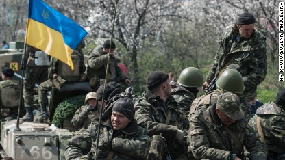 Ukrainian base attacked