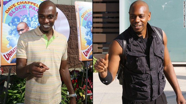 On April 15, Dave Chappelle was spotted leaving Live Nation's offices in Los Angeles carrying some extra muscle. Apparently the comedian has been spending his free time in the gym.