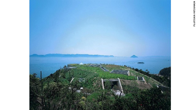 Adhering to his principle of designing buildings that follow the natural forms of landscapes, Tadao Ando's buildings on the island blend into or are built into the earth, some of them opening up to the sky. The Chichu Art Museum (pictured) is a prime example.
