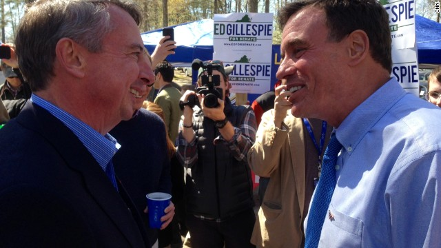 In the Virginia woods, Mark Warner is trailed by Obamacare