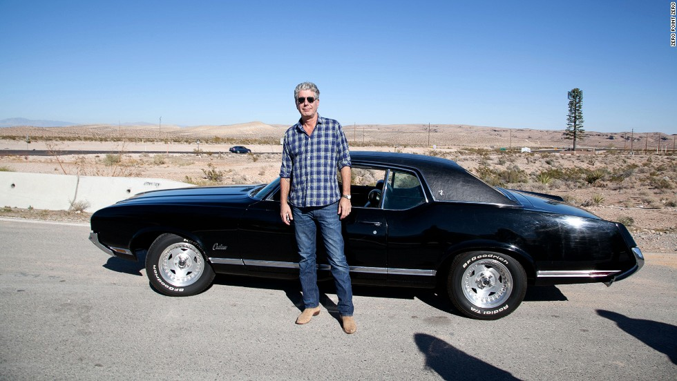 "Anthony Bourdain stands on the outskirts of Las Vegas, a city known for its overindulgence. He traveled to Sin City to sample its cuisine and film an episode of ""<a href='http://www.cnn.com/video/shows/anthony-bourdain-parts-unknown/season-3/las-vegas/index.html'>Parts Unknown</a>."""