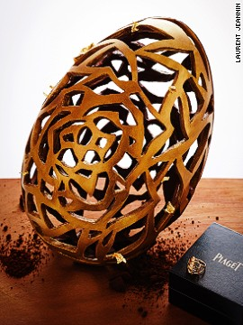 On April 20 children staying at the <a href='http://www.lebristolparis.com/eng/welcome/' target='_blank'>Le Bristol Paris</a> will gather in the hotel's garden for its annual Easter Egg hunt. The tot who finds a pink egg will win this stunning chocolate egg, sculpted by head pasty chef Laurent Jeannin. The open-worked piece, inspired by the Piaget Rose collection, contains a magnificent Piaget Rose ring in 18 carat pink gold set with a brilliant cut diamond. Happy Easter, indeed!
