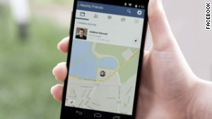 Facebook's new opt-in Nearby Friends feature uses location information to connect friends in the real world.