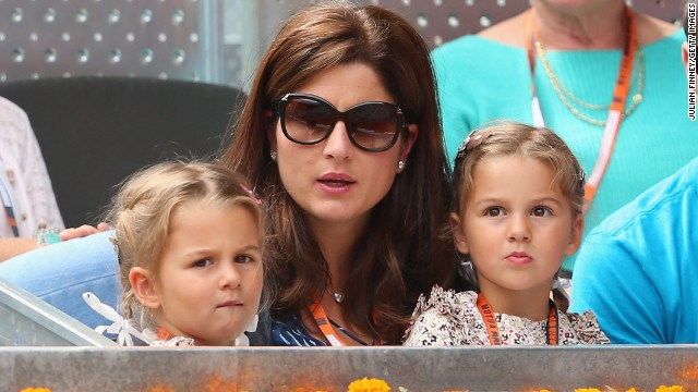 Roger Federer's immediate family -- wife Mirka and twin girls Myla Rose and Charlene Riva -- also expanded in 2014.
