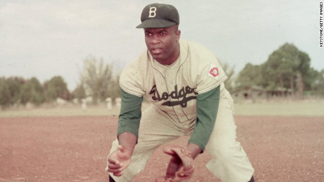 Mandela's plaque was unveiled on Jackie Robinson Day, which honors Major League Baseball's first African-American player. Robinson, also a prominent figure in the U.S. civil rights movement, was selected by the Brooklyn Dodgers in 1947 -- ending six decades of segregation in baseball.