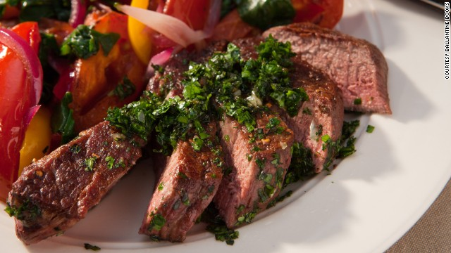 Chimichurri can be used as a pasta sauce, as a topping on eggs, as a marinade or on this delicious steak.
