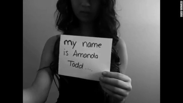 """Canadian teen <a href='http://www.cnn.com/2012/10/12/world/americas/canada-teen-bullying/'>Amanda Todd</a> posted a YouTube video to express her anguish after becoming the target of bullies when risque photos of Todd surfaced online, allegedly posted online by a man with whom she'd communicated. After posting the plea """"I have nobody. I need someone. My name is Amanda Todd,"""" she took her life at 15 years old in October 2012. A <a href='http://www.cbc.ca/news/canada/british-columbia/amanda-todd-case-rcmp-detail-5-charges-against-dutch-citizen-1.2614034' target='_blank'>Dutch man has been arrested</a> in connection with the case, according to the CBC."""