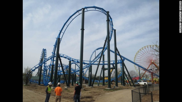 Lightning Run at Kentucky Kingdom in Louisville is part of a a $50 million renovation of this former Six Flags park.