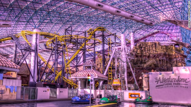 El Loco opened in February at Adventuredome at Circus Circus in Las Vegas. The hair-raising new coaster has a turn that banks to the outside.