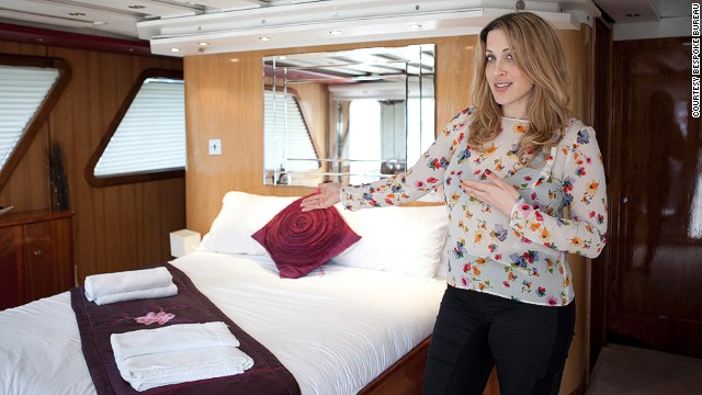 """The yacht is where the super rich come to entertain, it's where they want to show off, it needs to be perfect. And that's what we're teaching them here -- perfection,"" says Sarah Vestin Rahmani, founder of Bespoke Bureau (pictured)."