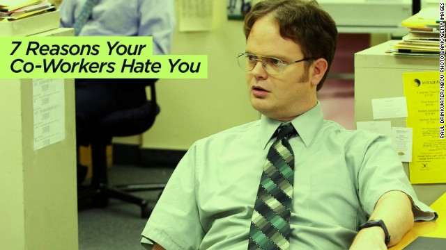 Forbes published <a href='http://www.forbes.com/sites/ilyapozin/2013/11/20/7-reasons-your-coworkers-hate-you/' target='_blank'>this ode to workplace unpopularity</a>. (Tip: Don't waste everyone's time during meetings.)