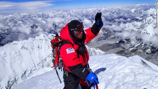 Yuichiro Miura became the oldest person to summit Everest, on May 23, 2013, at the age of 80.