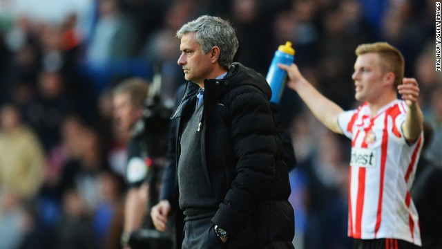 Chelsea boss Jose Mourinho suffered his first league defeat in 78 matches against Sunderland at Stamford Bridge on Saturday.