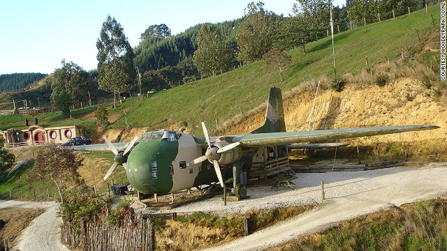 One of the last allied planes out of Vietnam has been converted into two self-contained motel rooms.