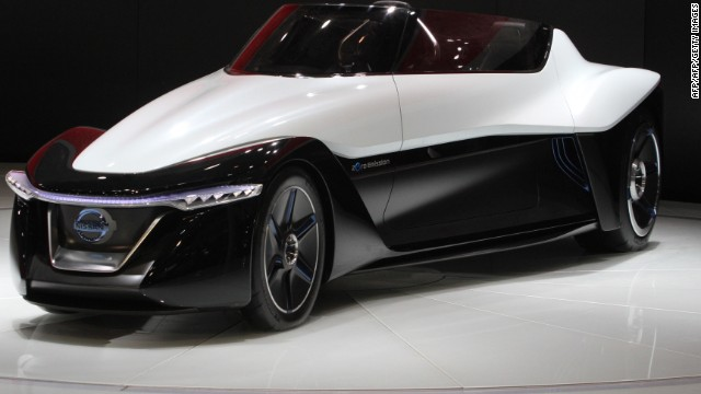 Several other green car models are showcased at the Beijing Auto Show this year, including the Nissan Zero Emission car.