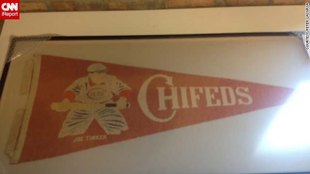 This 100-year-old pennant was made for the Chicago Federal League baseball team, the Chicago Whales. The Chi-Feds, as they were known, were the original occupants of Wrigley Field, which was called Weeghman Park when it opened in 1914. It was named Wrigley Field in 1926. <a href='http://ireport.cnn.com/docs/DOC-1120411'>Peter LaSorsa</a> purchased the rare pennant for his baseball memorabilia collection.