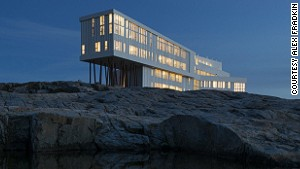 The Fogo Island Inn is modeled on the homes of Newfoundland fishermen.
