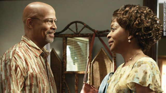 "Warren has had roles in ""A Different World,"" ""Murder One,"" ""Soul Food"" and ""Lincoln Heights"" (here with Tina Lifford) since ""Hill Street"" ended in 1987."